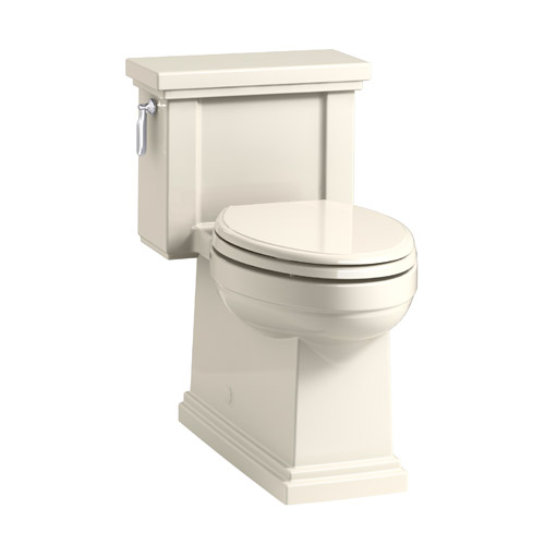 Kohler K-3981-47 Tresham Comfort Height Skirted One-Piece Compact Elongated 1.28 gpf Toilet with Left Hand Trip Lever - Almond