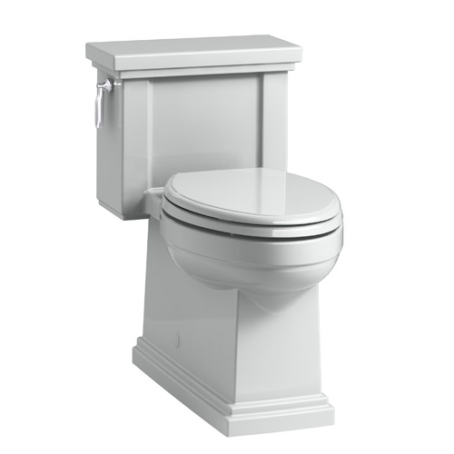 Kohler K-3981-95 Tresham Comfort Height Skirted One-Piece Compact Elongated 1.28 gpf Toilet with Left Hand Trip Lever - Ice Grey