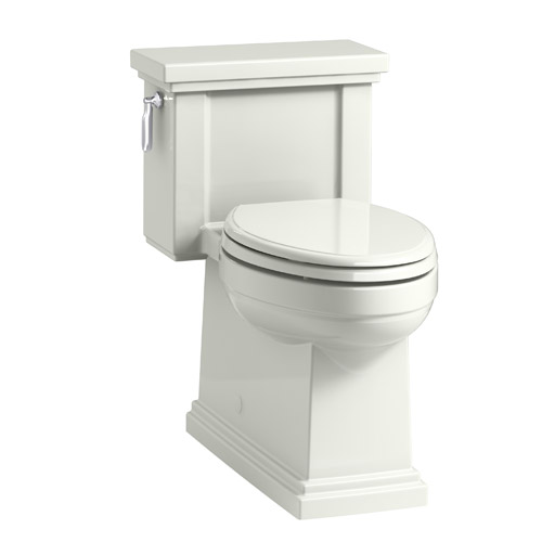 Kohler K-3981-NY Tresham Comfort Height Skirted One-Piece Compact Elongated 1.28 gpf Toilet with Left Hand Trip Lever - Dune