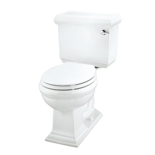 Kohler K-3986-RA-96 Memoirs Comfort Height Two Piece Round Front 1.28 GPF Toilet with Classic Design and Right Hand Trip Lever - Biscuit (Pictured in White)