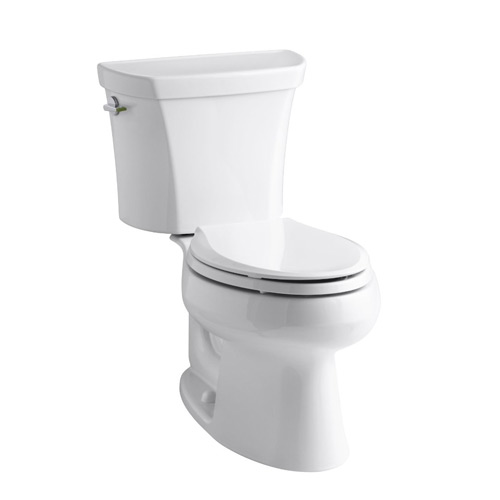 Kohler K-3988-0 Wellworth Two Piece Elongated Dual Flush Toilet with Left Hand Trip Lever - White