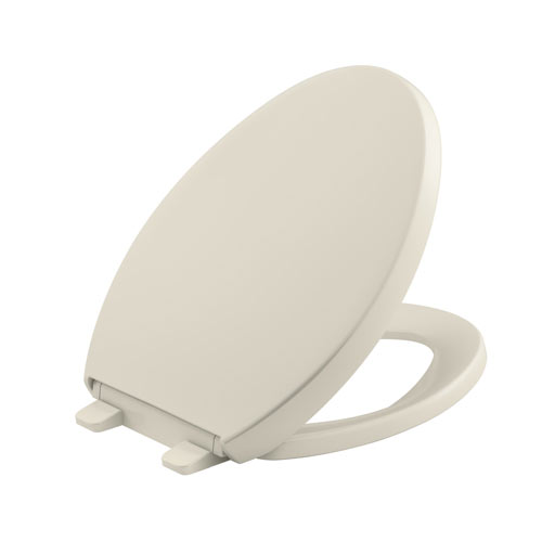 Kohler K-4008-47 Grip-Tight Reveal Q3 Elongated Toilet Seat - Almond