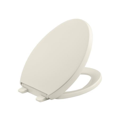 Kohler K-4008-96 Grip-Tight Reveal Q3 Elongated Toilet Seat - Biscuit