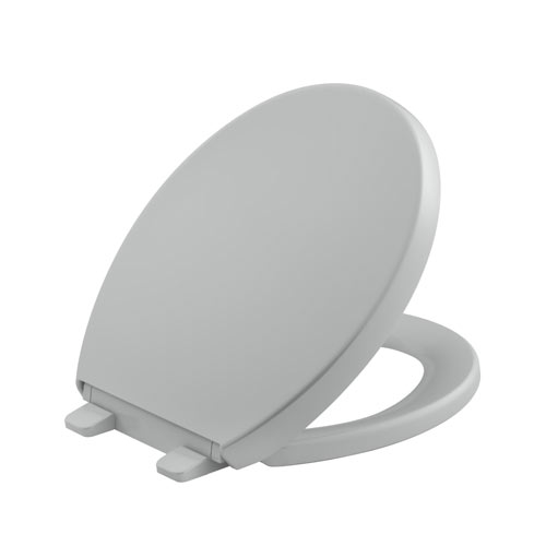 Kohler K-4009-95 Grip-Tight Reveal Q3 Round-Front Toilet Seat - Ice Grey