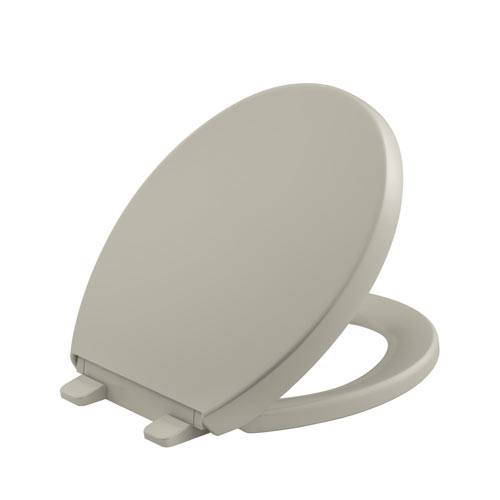 Kohler K-4009-G9 Grip-Tight Reveal Q3 Round-Front Toilet Seat - Sandbar