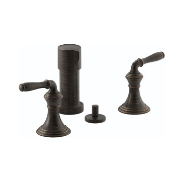 Kohler K-412-4-2BZ Devonshire Two Handle Vertical Spray Bidet Faucet - Oil Rubbed Bronze