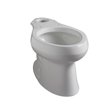 Almond Kohler K-4303-L-47 Wellworth Pressure Lite Toilet Bowl with Bed Pan Lugs