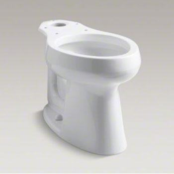 Tremendous Kohler K 4199 0 Highline Comfort Height Elongated Bowl White Machost Co Dining Chair Design Ideas Machostcouk