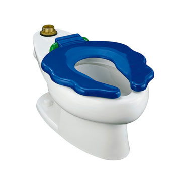 Kohler K-4321-0 Primary Elongated Bowl Toilet with Seat - White (Pictured in Blue Seat)