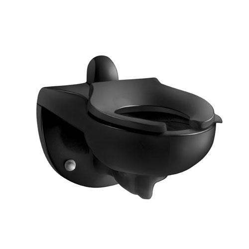 Kohler K-4323-7 Kingston 1.28 Toilet Bowl with Rear Spud Black Black