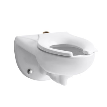 Kohler K-4325-0 Kingston 1.28 Toilet Bowl with Top Spud - White (Seat Not Included)