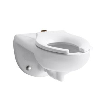 kohler k43250 kingston 128 toilet bowl with top spud white seat not included