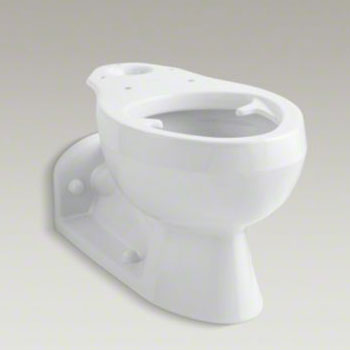 Kohler K-4327-0 Barrington Elongated Bowl with Pressure Lite Flushing Technology, Less Seat - White