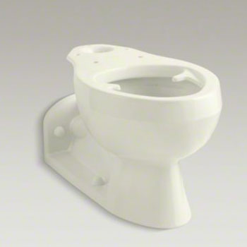Kohler K-4327-96 Barrington Elongated Bowl with Pressure Lite Flushing Technology, Less Seat - Biscuit