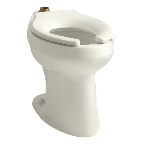 Kohler K-4405-96 Highline 1.28 GPF Flushometer Elongated Toilet Bowl, Requires Seat - Biscuit