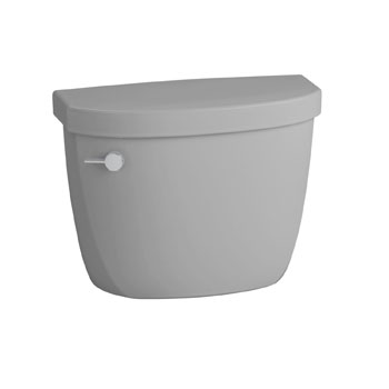 Kohler K-4418-95 Cimarron 1.6 gpf Toilet Tank with Class Five Flushing Technology - Ice Grey