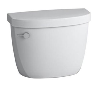 Kohler K-4418-7 Cimarron 1.6 gpf Toilet Tank with Class Five Flushing Technology - Black (Pictured in White)