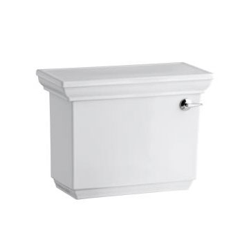 Kohler K-4434-RA-0 Memoirs 1.28 gpf Tank with Right Hand Trip Lever and Stately Design - White