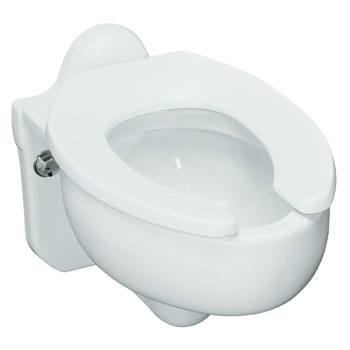 Kohler K-4460-C-0 Sifton Wall Mounted 3.5 gpf Water Guard Flushometer Valve Elongated Blow Out Toilet Bowl, Requires Seat - White