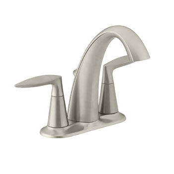 Kohler K-45100-4-BN Alteo Centerset Lavatory Sink Faucet - Brushed Nickel