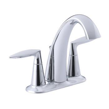 Kohler K-45100-4-CP Alteo Centerset Lavatory Sink Faucet - Chrome