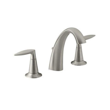 Kohler K-45102-4-BN Alteo Widespread Lavatory Faucet - Brushed Nickel