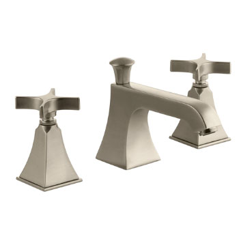 Kohler K-454-3S-BV Memoirs Widespread Lavatory Faucet with Stately Design and Cross Handles - Brushed Bronze