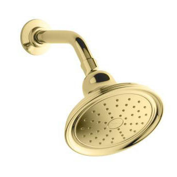 Kohler K-45413-PB Devonshire Single Function 2.0 gpm Katalyst Spray Showerhead - Polished Brass