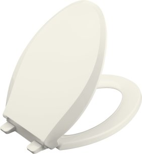 Kohler K-4636-96 Cachet Quiet-Close Elongated Toilet Seat - Biscuit