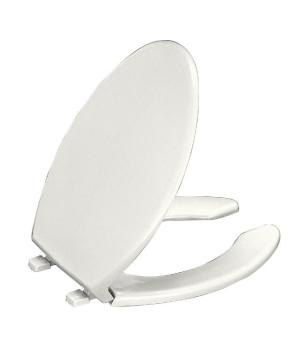 Kohler K-4650-0 Lustra Elongated Open Front Toilet Seat and Cover - White