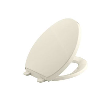 Kohler K-4748-0 Saile Quiet-Close Quick-Release Elongated Toilet Seat - Almond