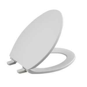 Kohler K-4774-7 Brevia Elongated Toilet Seat with Q2 Advantag - Black (Pictured in White)