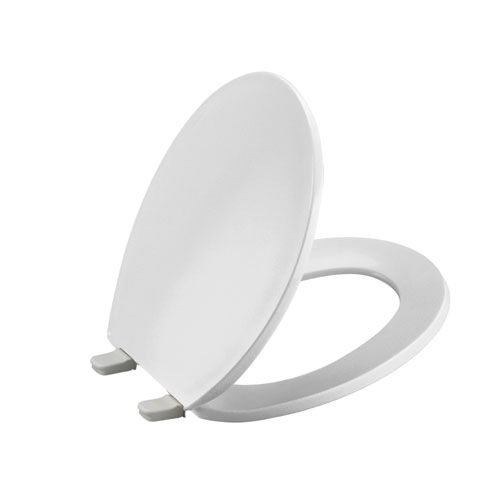 Kohler K-4775-96 Brevia Round Toilet Seat with Q2 Advantage - Biscuit (Pictured in White)