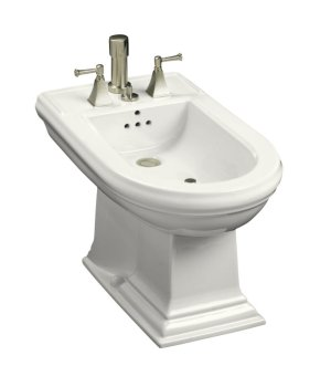 Kohler K-4886-0 Memoirs Vertical Spray Bidet - White