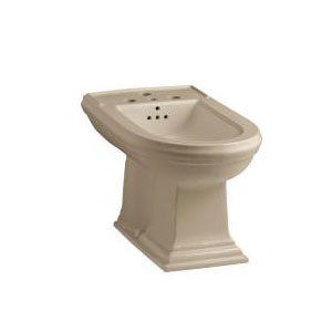 Kohler K-4886-33 Memoirs Vertical Spray Bidet with 4 Faucet Holes - Mexican Sand