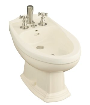 Kohler K-4897-0 Portrait Bidet - White (Pictured in Almond)