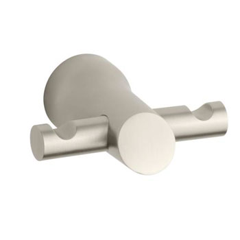 Kohler K-5670-BN Toobi Double Hook Robe Hook - Brushed Nickel