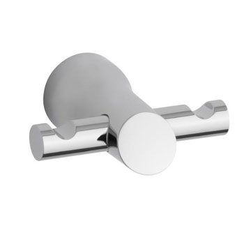 Kohler K-5670-CP Toobi Double Hook Robe Hook - Chrome