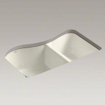 kohler k 5841 4u 96 lawnfield double bowl kitchen sink