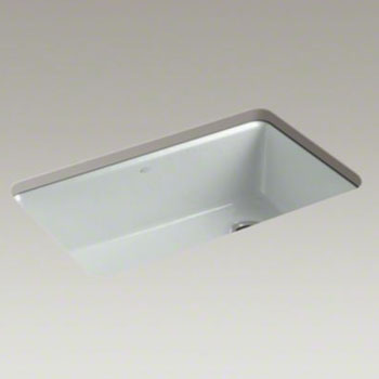 Kohler-K-5871-5UA3-95-Riverby-Single-Bowl-Undermount-Kitchen-Sink-with-Accessories---Ice-Grey