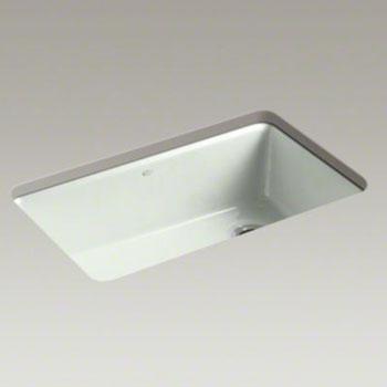 Kohler Undermount Kitchen Sinks : Kohler K-5871-5UA3-FF Riverby Single Bowl Undermount Kitchen Sink with ...