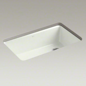 Kohler K-5871-5UA3-NY Riverby Single Bowl Undermount Kitchen Sink with Accessories - Dune