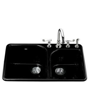 Kohler K-5932-4-7 Executive Chef Self Rimming Double Bowl Kitchen ...