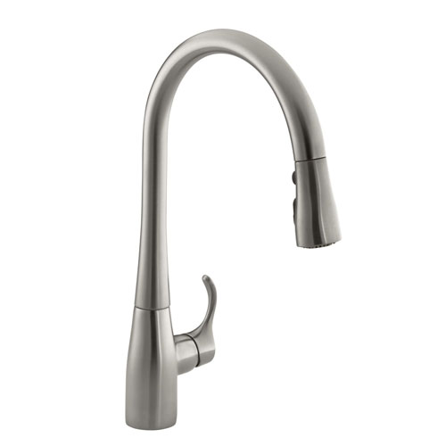 Kohler K-596-VS Simplice Single Hole Pulldown Kitchen Faucet ...