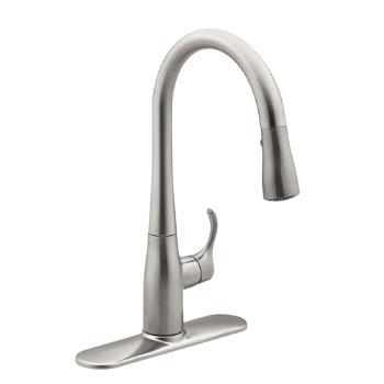 Kohler K-597-VS Simplice Pulldown Secondary Faucet - Vibrant Stainless Steel