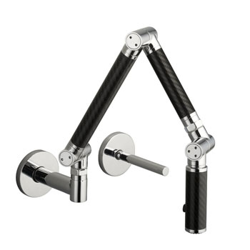 Kohler K-6228-C12-CP Karbon Wall-Mount Kitchen Faucet - Polished Chrome w/Black Tube