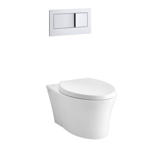 Kohler K-6299-0 Veil Wall Hung Elongated Toilet Bowl - White