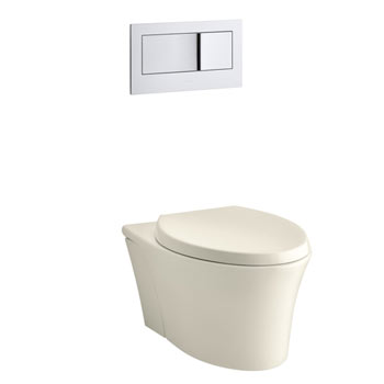 Kohler K-6299-47 Veil Wall Hung Elongated Toilet Bowl - Almond