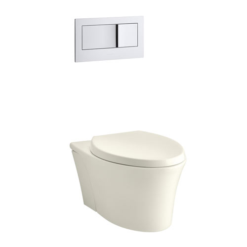Kohler K-6299-96 Veil Wall Hung Elongated Toilet Bowl - Biscuit