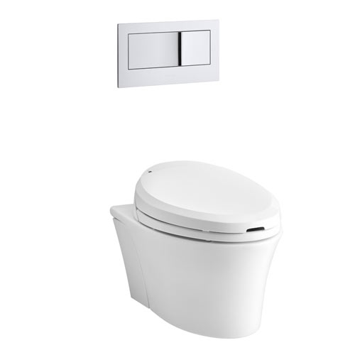 Kohler K-6300-0 Veil Wall Hung Elongated Toilet Bowl - White